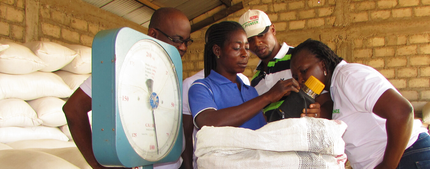 Promoting standards through weighing scale and moisture meter
